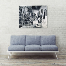 Pablo Picasso And The Meninas HD Wall Art Canvas Painting Poster Prints Modern Painting Wall Picture For Living Room Home Decor 2pic set paris city landmarks and cars modern painting hd prints on canvas wall art for living room canvas printings home decor