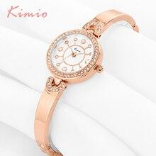 hot deal buy kimio pearl scale quartz rose gold bracelet watches women fashion watch 2018 brand women's watches wrist watches for women clock
