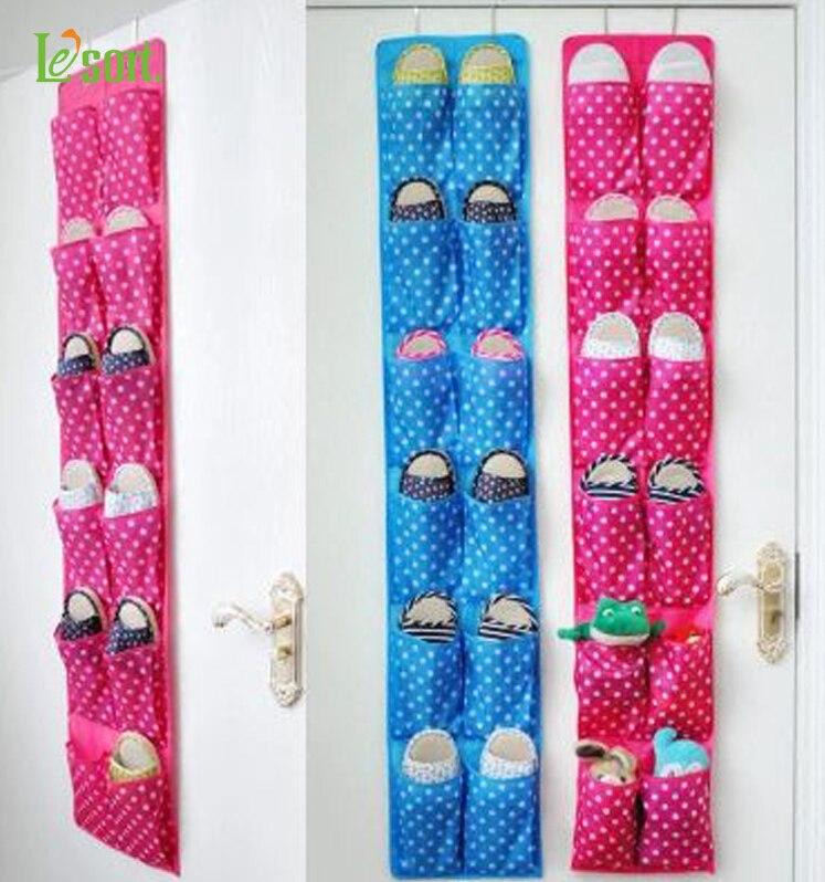 Oven ripustaminen Extra Large 12 taskua järjestäjä kenkä, työkalut, Sundries.Cute 4 eri karkkia väri