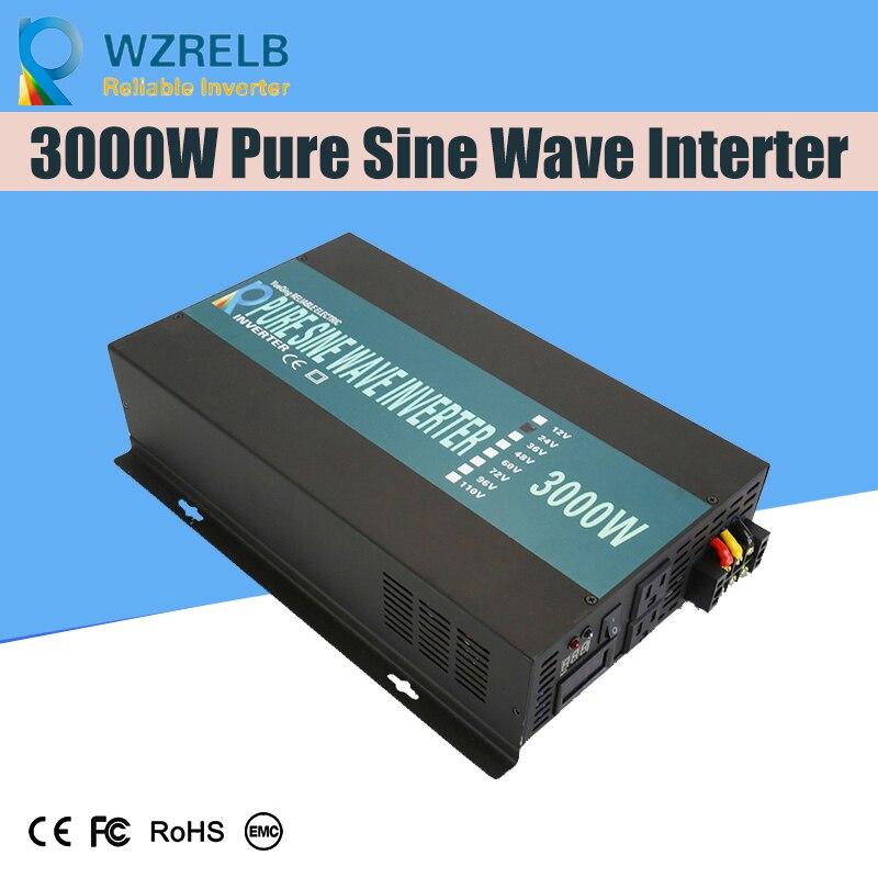 Confiável Off-grid inversor 3000 w inversor com onda senoidal pura de alta freqüência de saída e função de carregamento