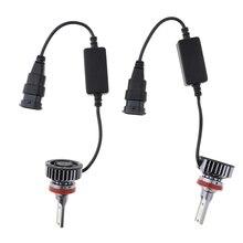 цена на 2 Pcs 40*40*70mm LED Headlight Bulbs All-in-One Conversion Kit H11 8000Lm 6500K Cool White Auto Headlights DC9V-32V Led Light