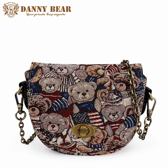 DANNY BEAR Women Mini Cute Messenger Bags Summer Korean Small School  Shoulder Bag Teenager Girls Vintage Crossbody Bag Bolsas c99c6f1cb3ebc