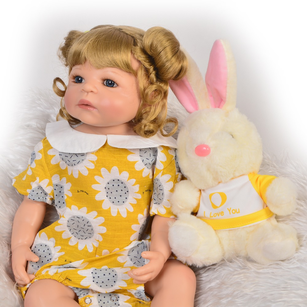 55cm Full Silicone Body Reborn Baby Doll Toy gift bebe Vinyl reborn  Princess toddler doll can bathe menina bonecas55cm Full Silicone Body Reborn Baby Doll Toy gift bebe Vinyl reborn  Princess toddler doll can bathe menina bonecas