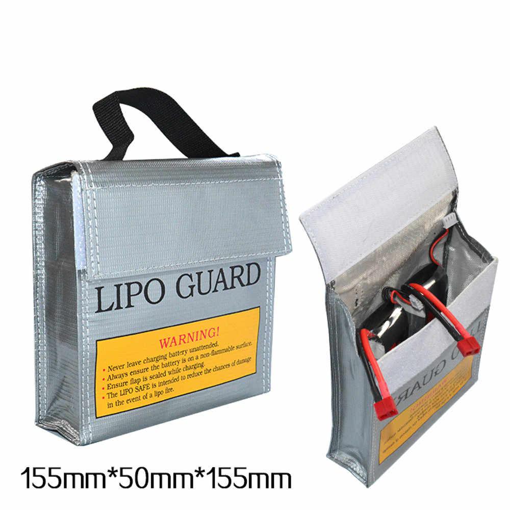 Kompilacja 155*50*155MM bateria LiPo li-po ognioodporna osłonka zabezpieczająca bezpieczna torba zabawki zdalnie sterowane