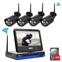 Wistino 960P IP Camera CCTV Security System Kit Wireless 4CH NVR Wifi Outdoor P2P Monitor Kits