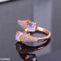 KJJEAXCMY fine jewelry 925 Pure silver inlay moonstone micro inlay ring natural gemstone lady's hand decoration