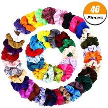 46For Pack Large Circle New Multi Color Head Wear Cloth Hair Ring Female Head Flower(China)