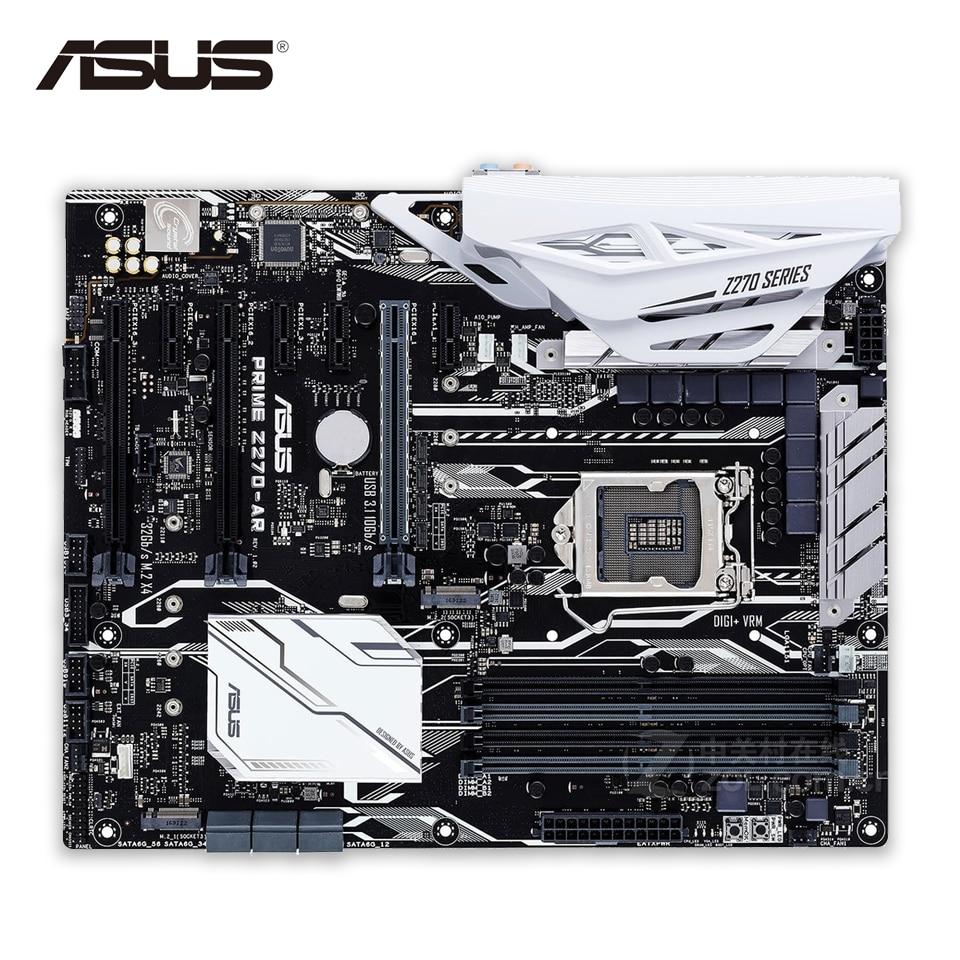 все цены на Asus PRIME Z270-AR Original New Desktop Motherboard Z270 Socket LGA 1151 i7 i5 i3 DDR4 64G SATA3 USB3.1 ATX онлайн
