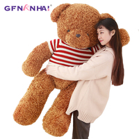 1pc 80/120cm Giant Brown Teddy Bear Plush toy Stuffed Plush Pillow Cute Sweater Teddy Bear Toys for Children Kids Christmas Gift
