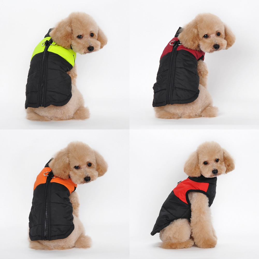 Waterproof Pet Dog Puppy Vest Jacket Dog Clothes Coat For Small Medium Large DogsChihuahua Clothing Warm Winter 4 Colors S-4XL