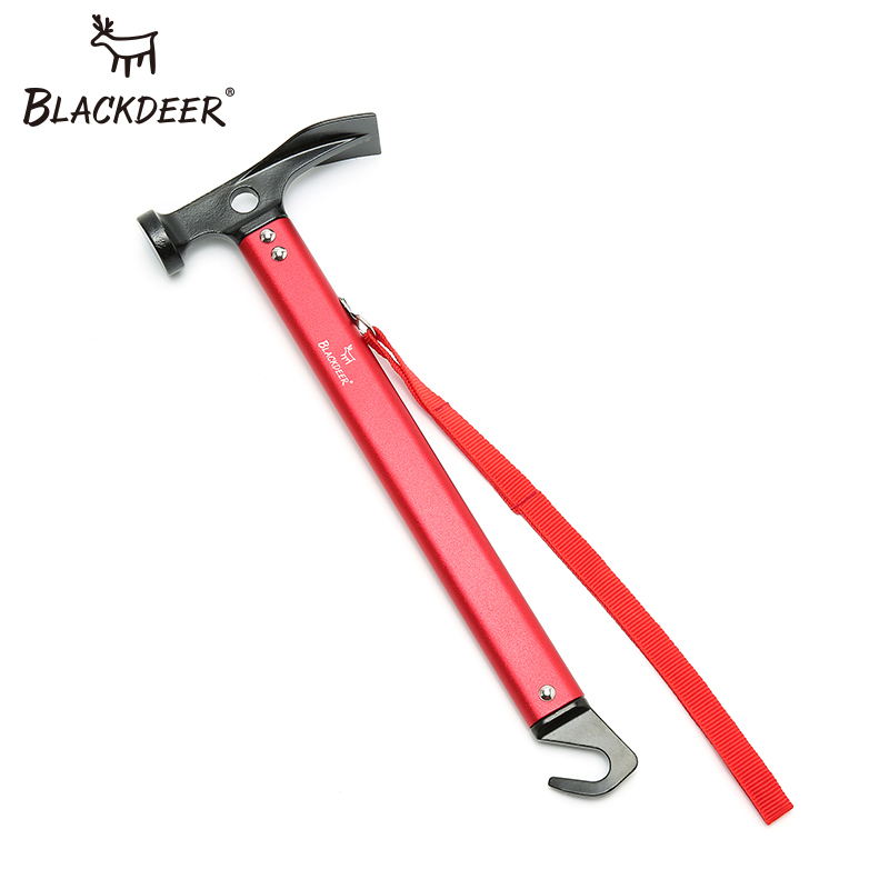 BLACKDEER Multifunction Camping Hammer Aluminum Steel Ax Ultra Light Tent Nail Puller Outdoor Tent Peg Accessories Outdoor Tool