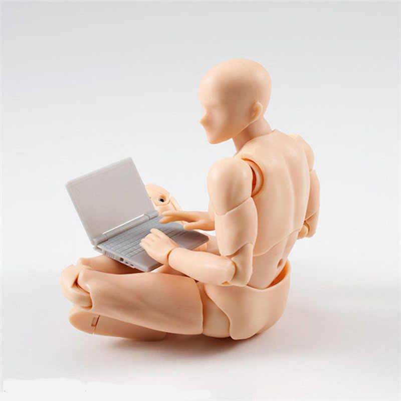 14cm Mannelijke Vrouwelijke Beweegbare body joint Action Figure Speelgoed kunstenaar Art schilderen Anime model pop Mannequin bjd Art Schets trekken