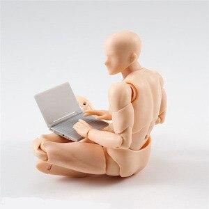 Image 3 - 14cm erkek kadın hareketli vücut eklem aksiyon figürü oyuncakları sanatçı sanat resim Anime modeli bebek manken bjd sanat kroki çekme