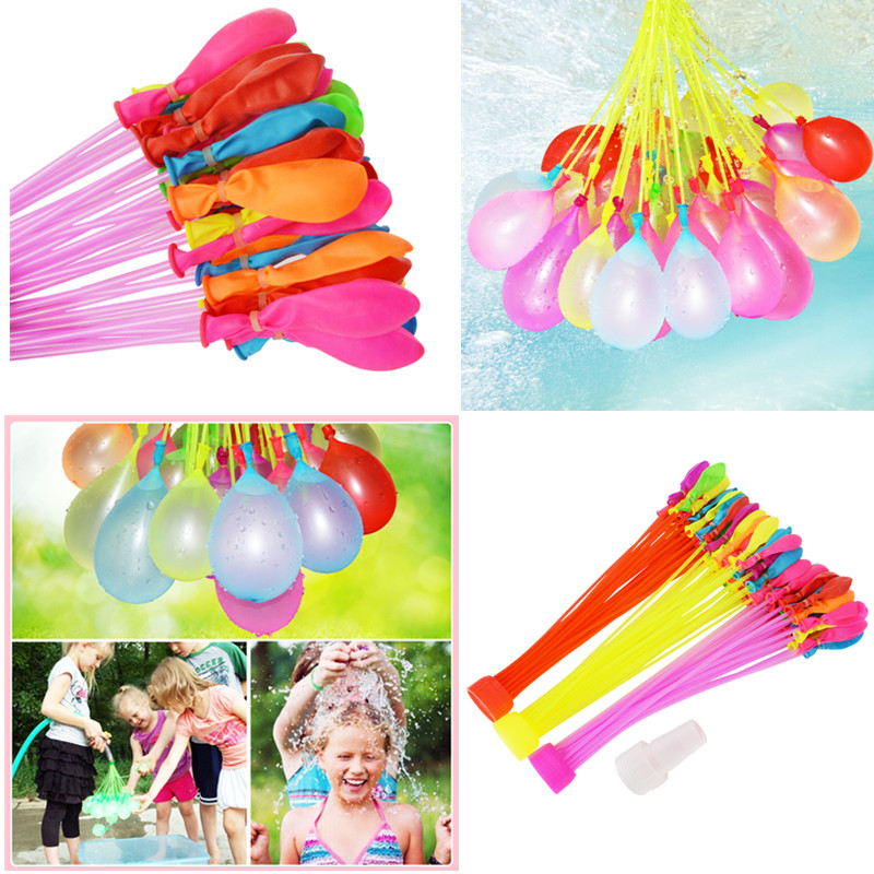 111pcs/pack Filling Water Balloons Bunch Bombs Toys Funny Water Balloons Toys Summer Kids Adult Outdoor Water Toys For Children