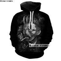 PLstar Cosmos 3D Pintura Famoso Pintor Van Gogh Hoodies Mujeres/Hombres Sudadera Chándales Casual Unisex Con Capucha Jerseys Negro