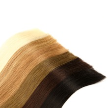 Tape In Human Hair Extensions Double Drawn Remy Tape In Natural Straight Hair On Adhesives 20pcs /set Invisible Hair