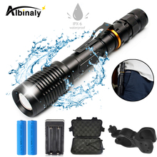 Super bright bicycle light 5 light mode LED bike light LED waterproof support zoom by 18650 battery powered for night riding цена и фото