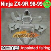 Cuerpo sin pintar Kit de carenado completo para Kawasaki Ninja zx9r 98-99 ZX 9r zx-9r 9 R 98 99 1998 1999 1998-1999 carenado