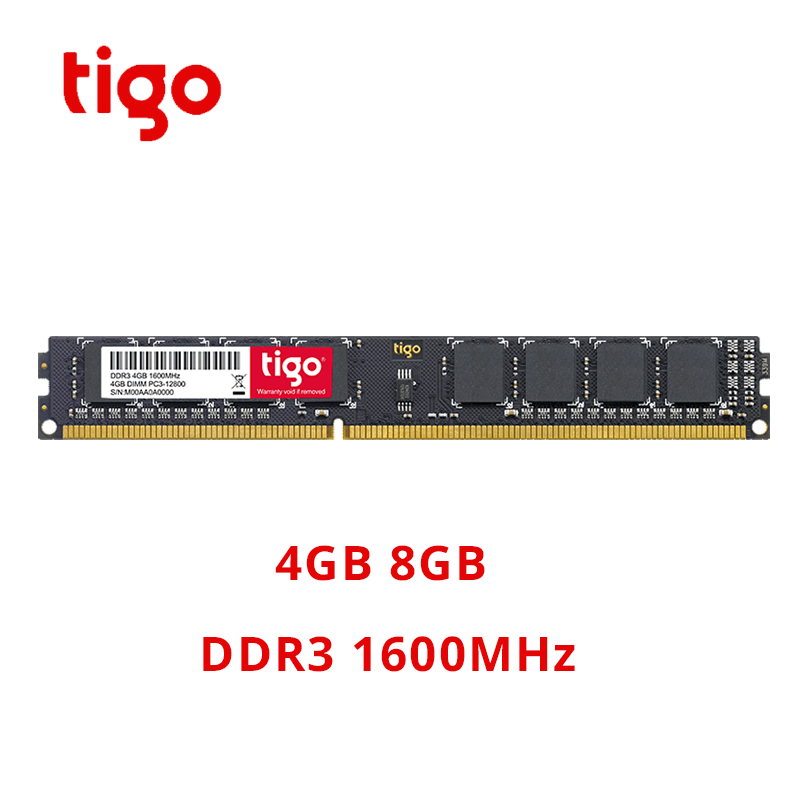 Tigo <font><b>DDR3</b></font> RAM 8GB <font><b>4GB</b></font> 1600MHz Original PC Memoria DDR 3 DIMM 240PIN For Desktop Stable Compatible with 1333mhz <font><b>1066mhz</b></font> image