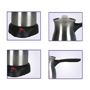 Image 5 - 스테인레스 스틸 커피 머신 터키 커피 메이커 800W 전기 커피 주전자 삶은 우유 커피 주전자 선물 220V Sonifer