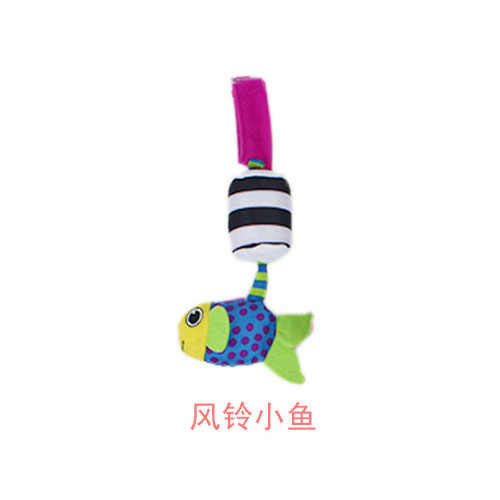 Brinquedo do bebê recém nascido quente chocalhos boneca de pelúcia recheado sino dos desenhos animados cama carro pendurado sinos vento som carrinho bonito animal abelha criança