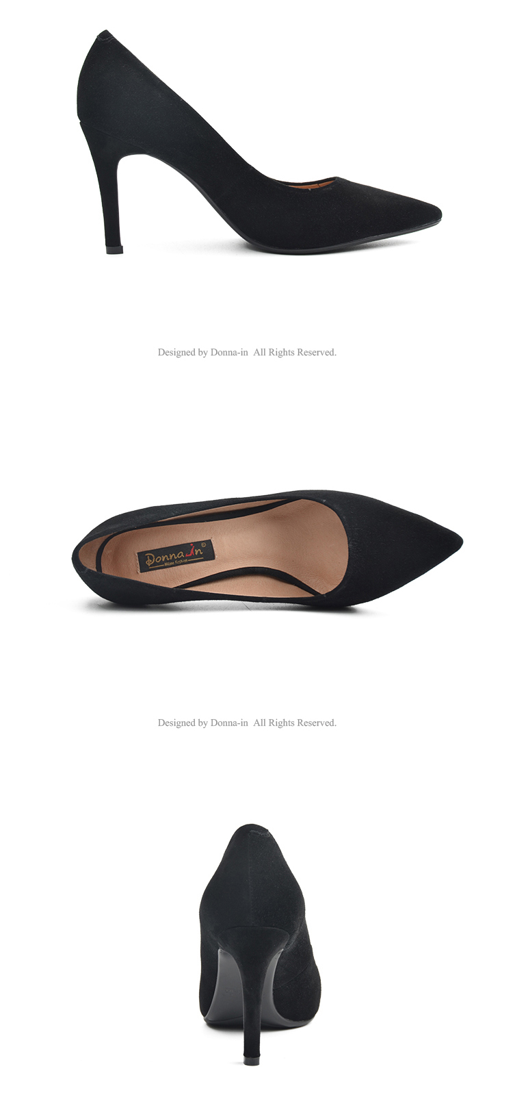 Donna-in 2017 New Style High heels pumps Natural suede leather Sexy Pointed Toe Office Singles Heeled woman Shoes 3255-1 (19)
