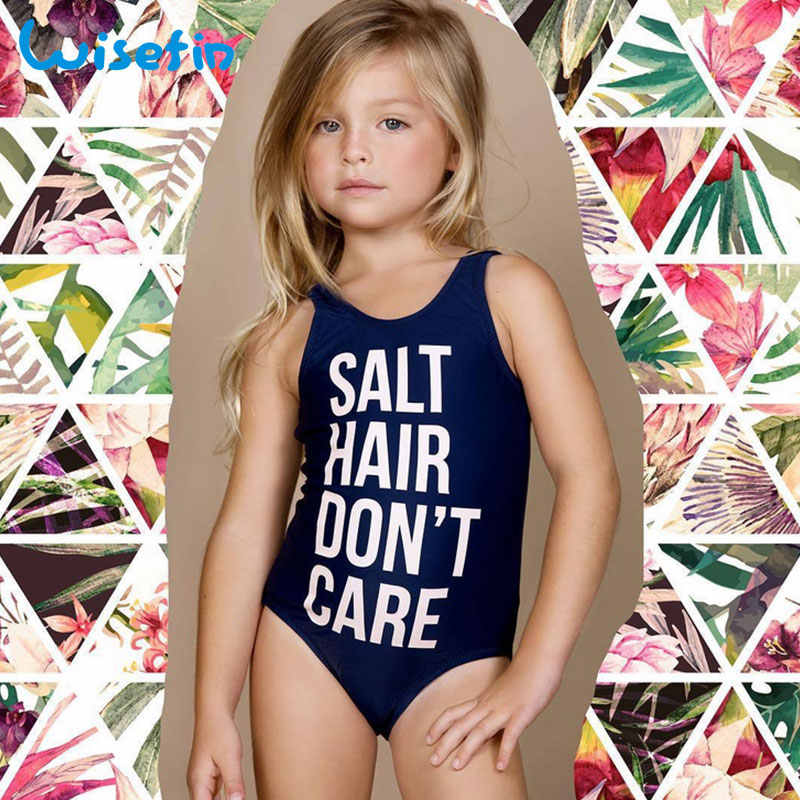 b1753c219d44d ... Wisefin Baby Girls Swimwear One Piece Swimsuit Kids Swimsuit Letter  Printing Beachwear Toddler Bikini Swim Clothes ...