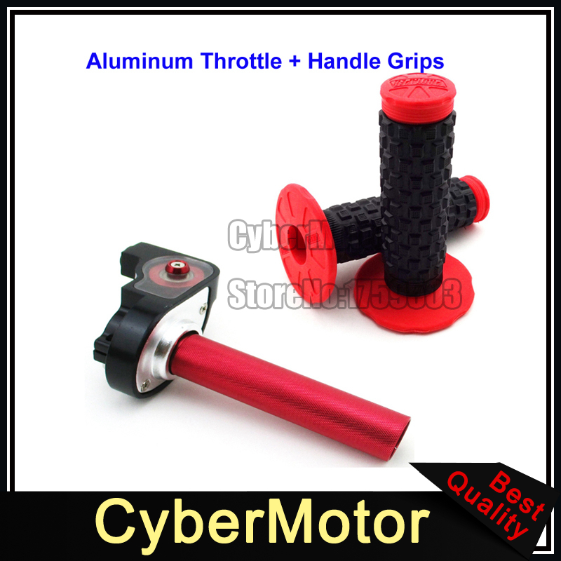 7//8  Acelerador de Cable Grip Kit de Mango Para 50-250CC Bici ATV Suciedad Negro