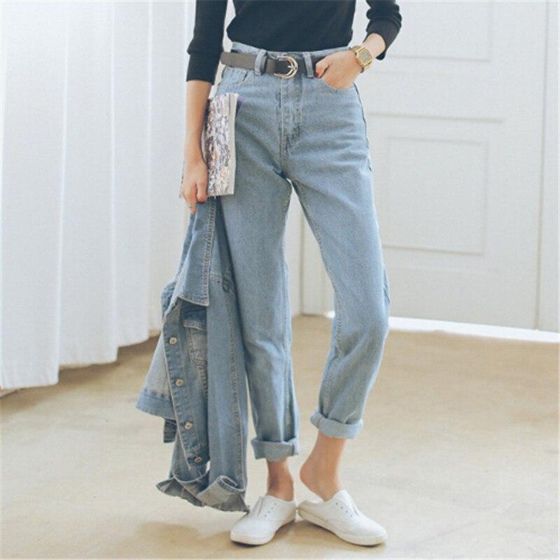 selezione premium 32345 e7daa US $24.7 28% di SCONTO|Premium classic Autunno A Vita Jeans Larghi Donna  Boyfriend Jeans Per Le Donne di Alta Qualità-in Jeans da Abbigliamento da  ...