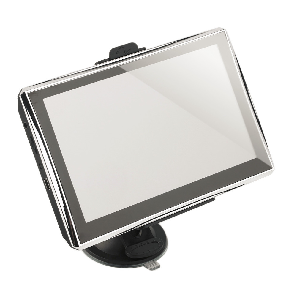 7 inch Car GPS Navigation Bluetooth AV-IN Vehicle Navigator 800 x 480 128M/4G GPS Navigation System with FM Function EU plug New lson ls518a 5 0 screen gps navigator w bluetooth headset av fm black