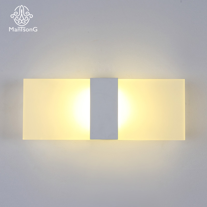 Mantsong Modern LED Acrylic Wall Lamp Sconce Light For Bed Room AC90-260V Wall Lights White/Black Piano Key Indoor Lighting