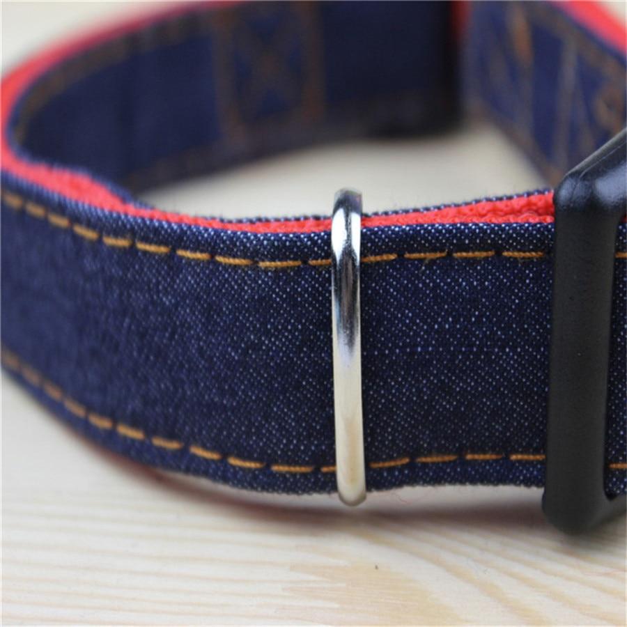 Pet Dog Collar Jeans Harness Rope Leash Lead Dog Golden Retriever Harnais Chien Labrador Halsband Hond Dog Accessories 50M0351