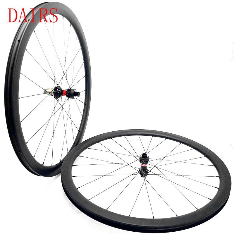 60mm 25mm width carbon wheels disc brake 700c Tubeless D411 412SB hub Straight pull central lock pillar 1420 carbon wheels 1640g|Bicycle Wheel| |  - title=
