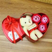 [Hot] Stitch Bouquet Plush Toys Bear Flower  Home Decoration Wedding Birthday Gift Present Valentines Day For Girls