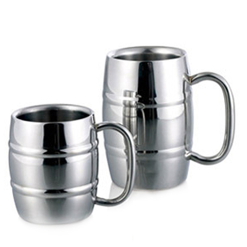 High Quality metal drinkwware cups for beer/coffee/tea mug/Double wall Bamboo pattern stainless steel mug and cup