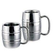 Taza de acero inoxidable de alta calidad, tazas de Metal, tazas de cerveza, café, té, taza de viaje de doble pared, taza de agua de Camping al aire libre