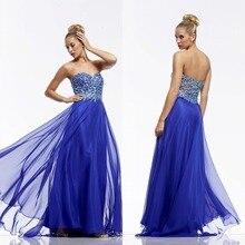 Kurze Brautkleider Charming A-line Schatz Bodenlangen Chiffon Crystals Kleid Lange Backless Abend-formale Kleid F708