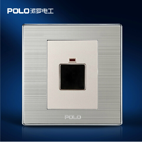 Wholesale POLO Luxury Wall Switch Panel, Light Switch,Touch Delay Switch,Champagne/Black, 10A, 110~250V, 220V