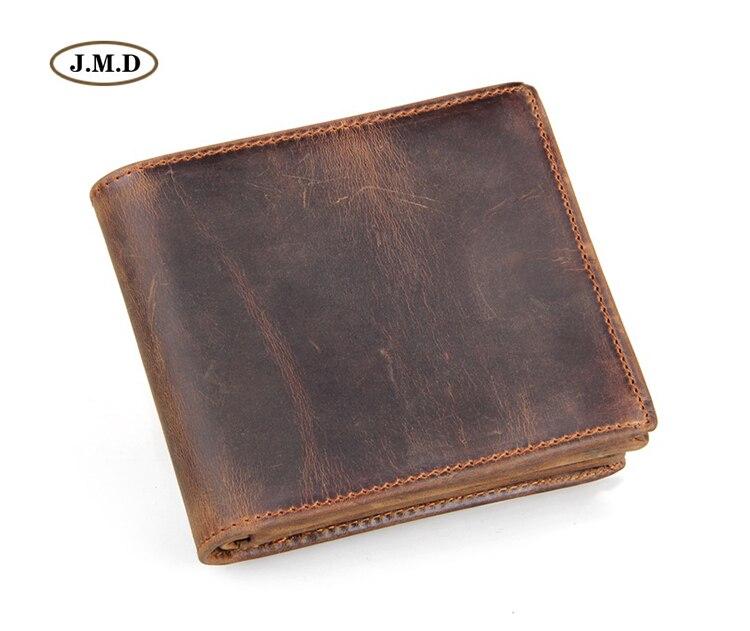 J.M.D echt leder Heren Creditcardhouder Geldhouder Mode Bruin Casual - Portemonnees en portefeuilles