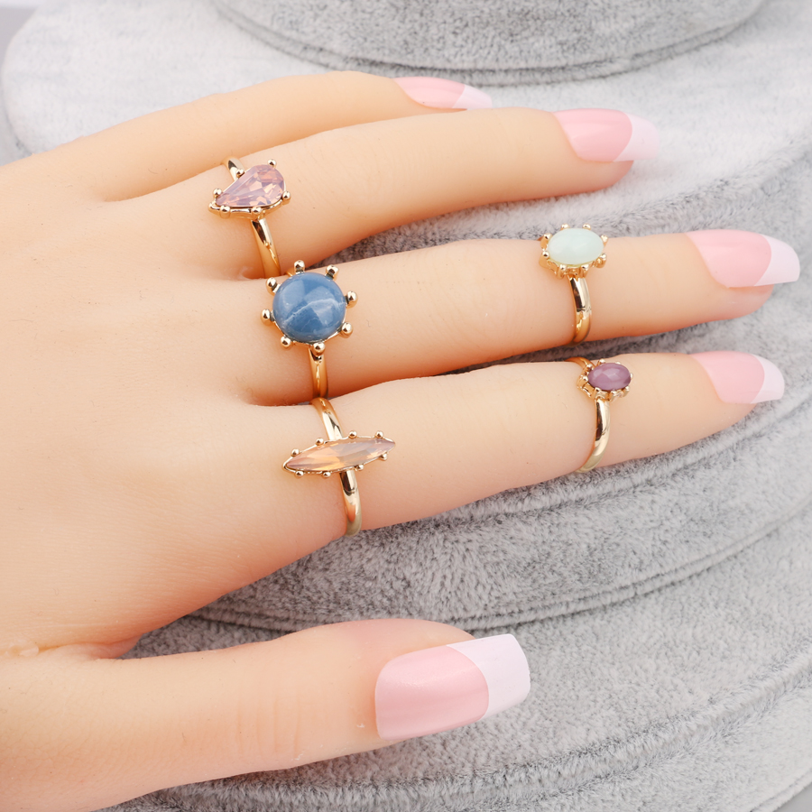 Kinel Fashion Gold Color Vintage Midi Rings For Women Punk Knuckle Joint Ring 5pcs/Sets Bohemia Jewelry