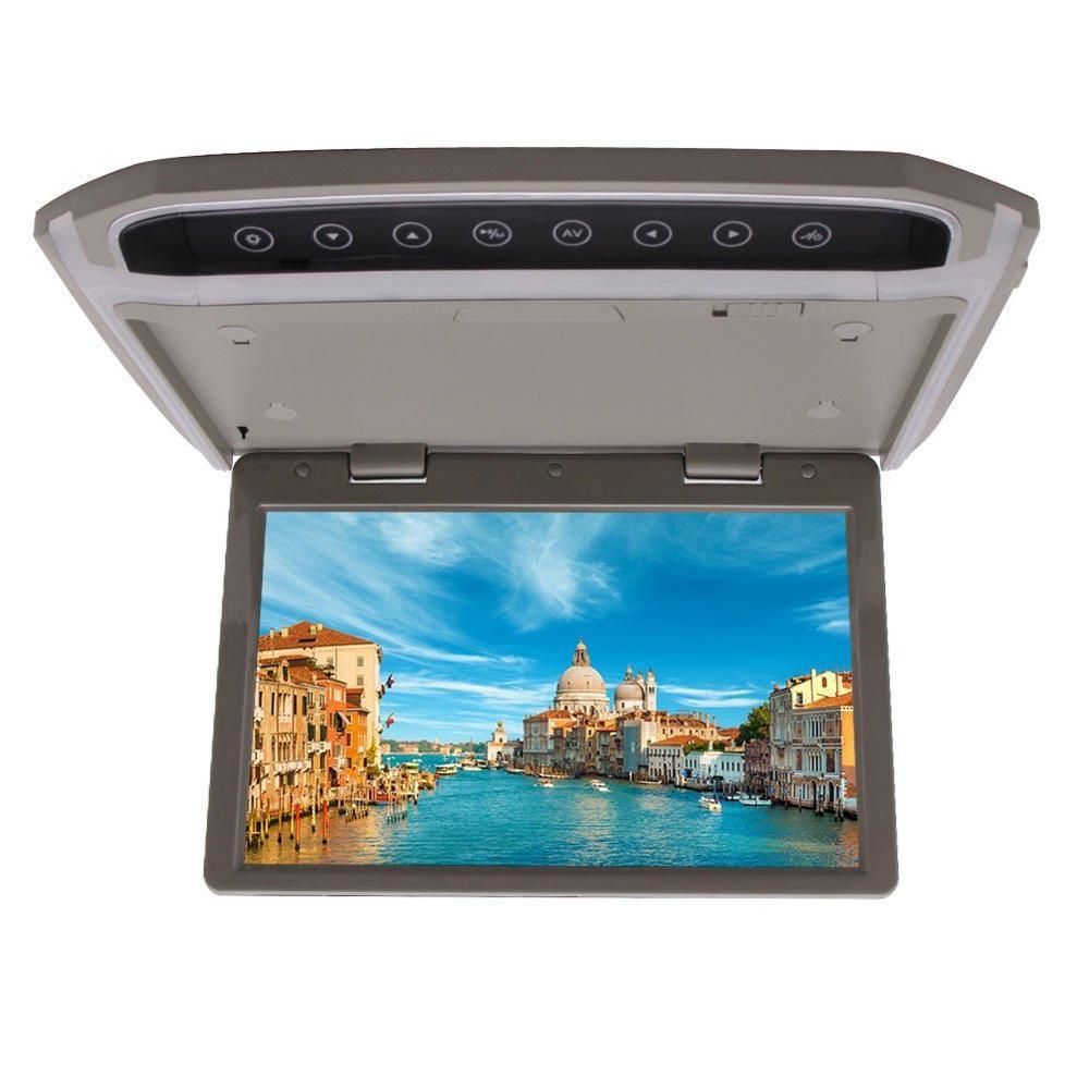 Высокой четкости 10.2 СД FM Автомобильный HDMI с разрешением 1080p крыше автомобиля Маунт/откидной/над головой Дисплей/серый ЖК-монитор со светодиодной подсветкой пульта дистанционного управления