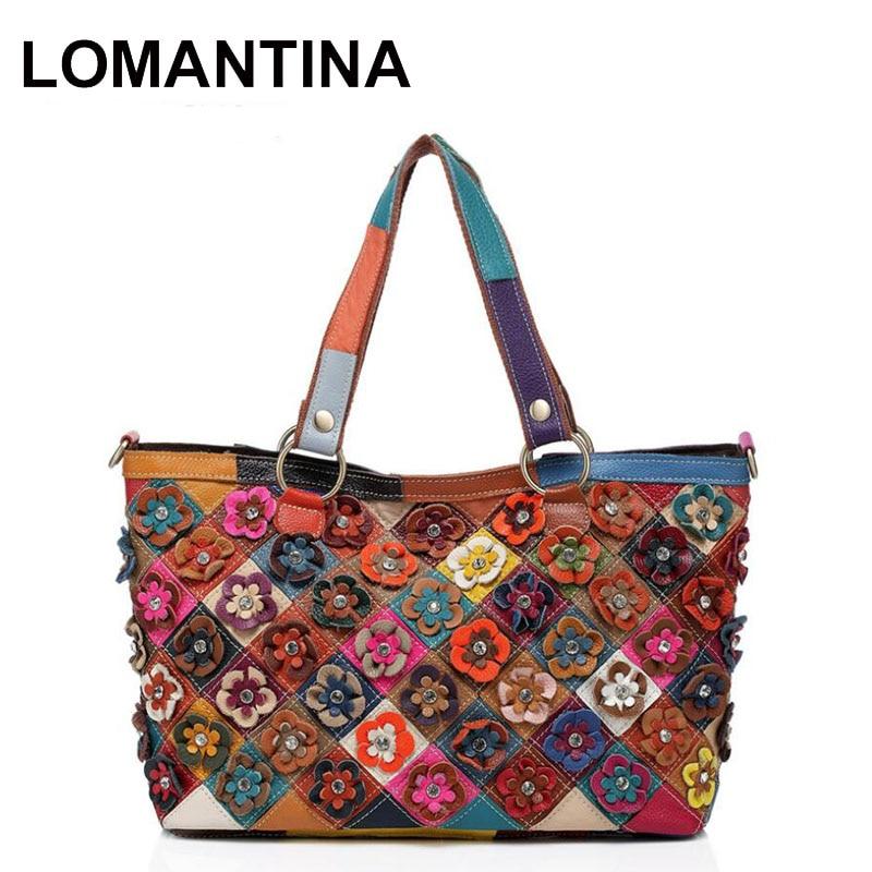 HOT!!!2018 Floral Handbag Vintage Fashion Famous Designer Brand Bags Women  Leather Handbags Ladies Hand Bags 6e9ad3d330ec2