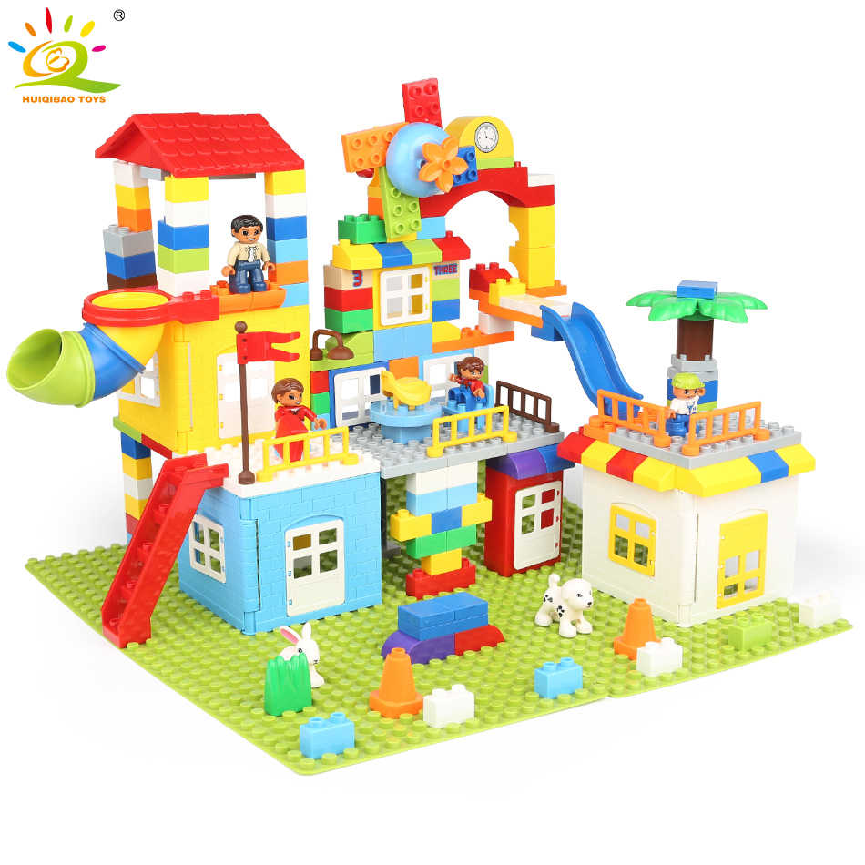 Detail Feedback Questions about 216PCS DIY Train House