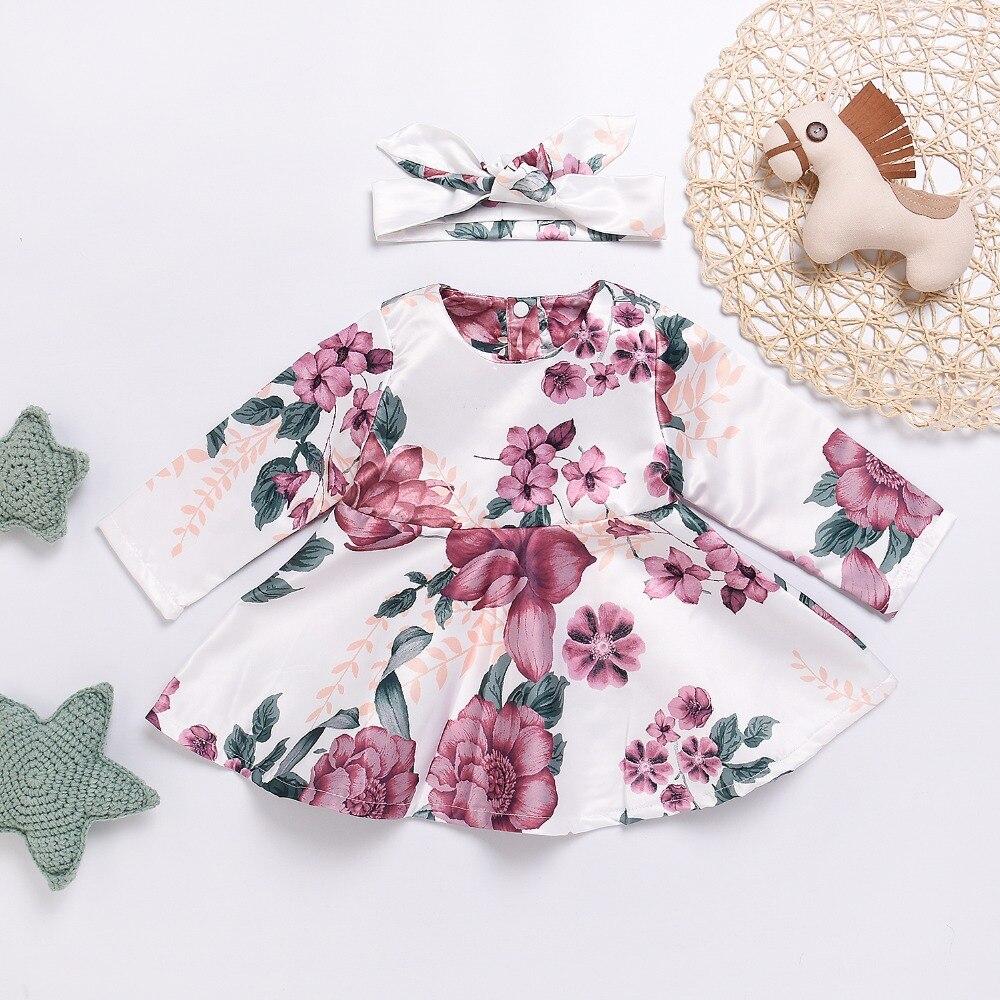 где купить Baby Girl Dress Winter Warm Newborn Floral First Year Birthday Dresses Autumn Casual Outwear Toddler Dress Long Sleeve 2017 Kids по лучшей цене