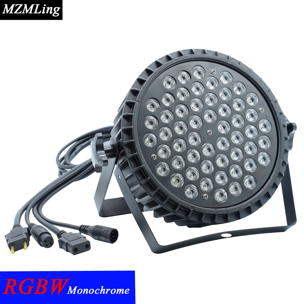 54x3w Led RGBW Monochromatic Par Light DMX512 Professional DJ /Bar /Party /Show /Stage Light LED Stage Machine 2pcs dj disco par led 54x3w stage light dmx strobe flat luces discoteca party lights laser rgbw luz de projector lumiere control