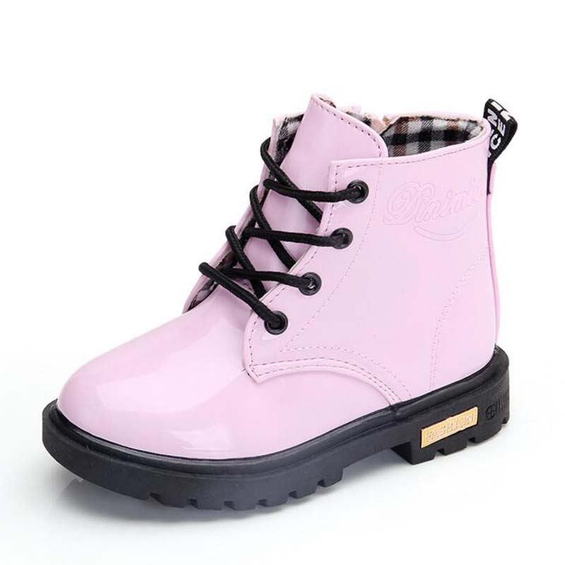 Waterproof Solid Jelly Color Martin Boots 6