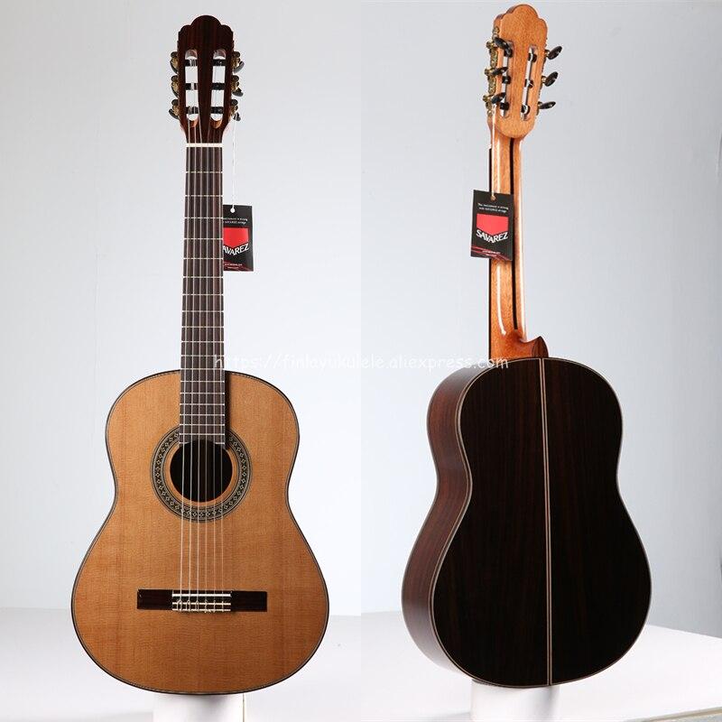 Guitarra Española hecha a mano de 36 , Cedro sólido/guitarras acústicas de Rosewood, guitarra clásica con cuerda de nailon gran venta de 580 MM