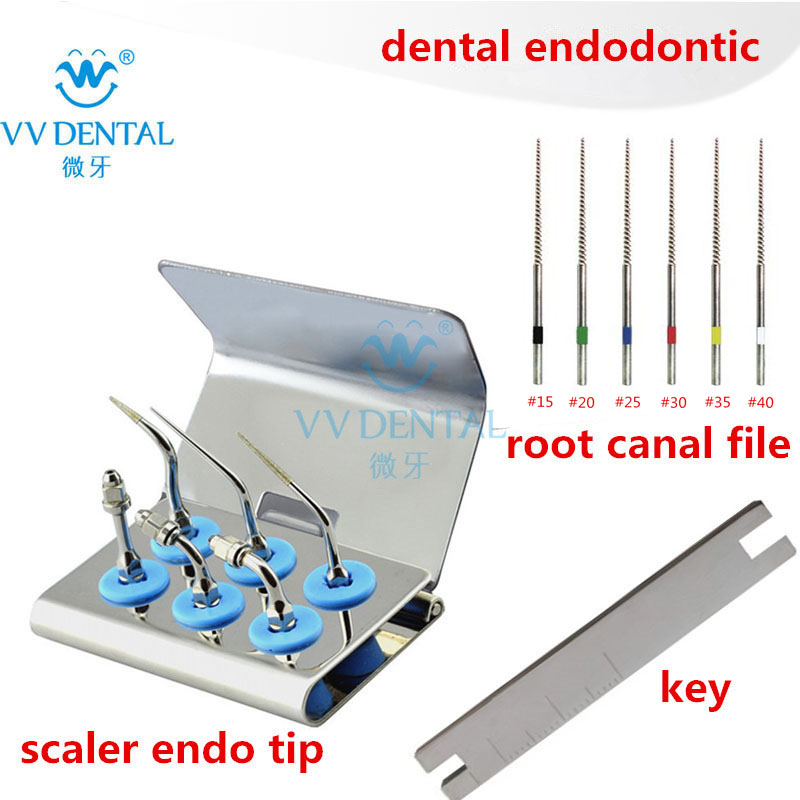 Dental tooth whitening scaler endo tip endodontic ultrasonic tips root canal file fit Woodpecker EMS equipment-in Teeth Whitening from Beauty & Health