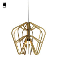 Gold Aluminum Exo Series Pendent Light Fixture Modern Nordic Rustic Hanging Lamp Lustre Avize Luminaria Design Dining Table Room