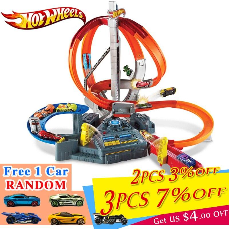 Véritable Hot Wheels Voiture Classique costume jouet Miniatures Électrique voie de train en jouet Carré Ville Hotwheels Antique Voitures Piste Mattel CDL45